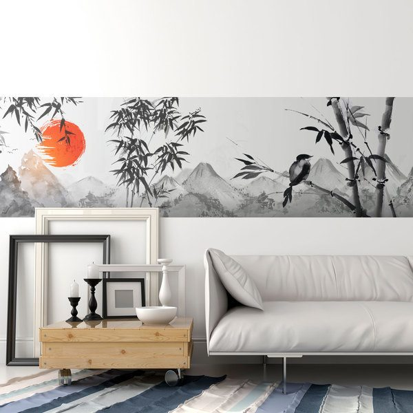 Wall Stickers: Japanese style landscape
