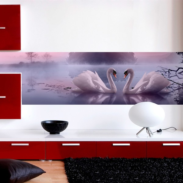 Wall Stickers: Swans in the swamp