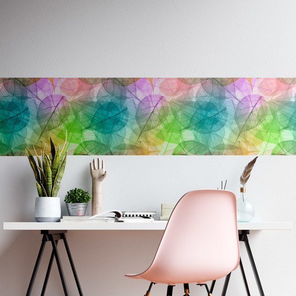 Wall Stickers: Rainbow leaves