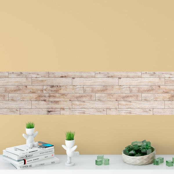 Wall Stickers: Wooden wall
