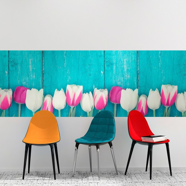 Wall Stickers: Pink and white tulips