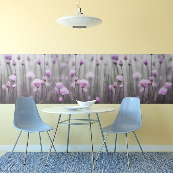 Wall Stickers: Violet flowers