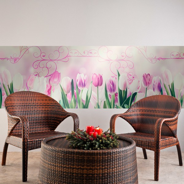 Wall Stickers: Tulips and ornaments