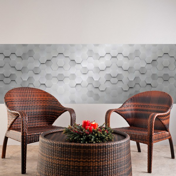 Wall Stickers: Grey Hexagons