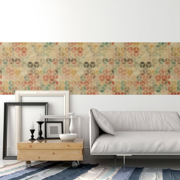 Wall Stickers: Cube tile