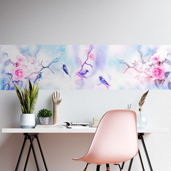Wall Stickers: Hummingbirds and branches in winter