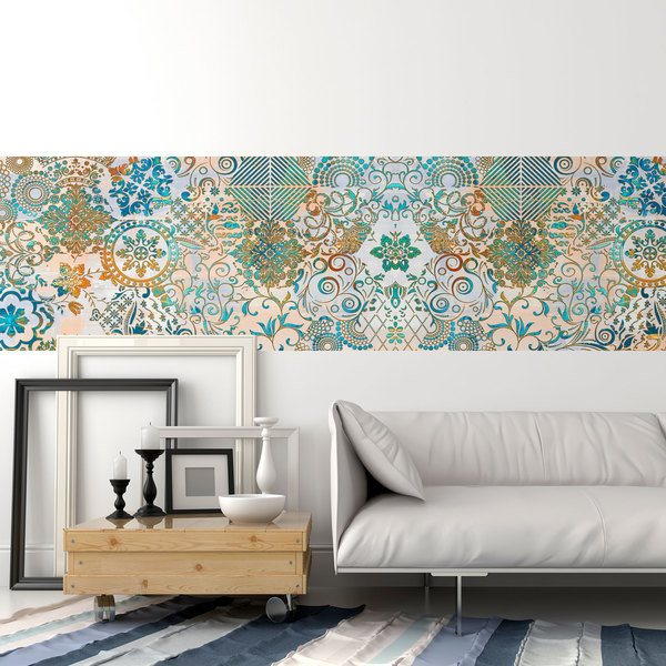 Wall Stickers: Peacock ornamental print
