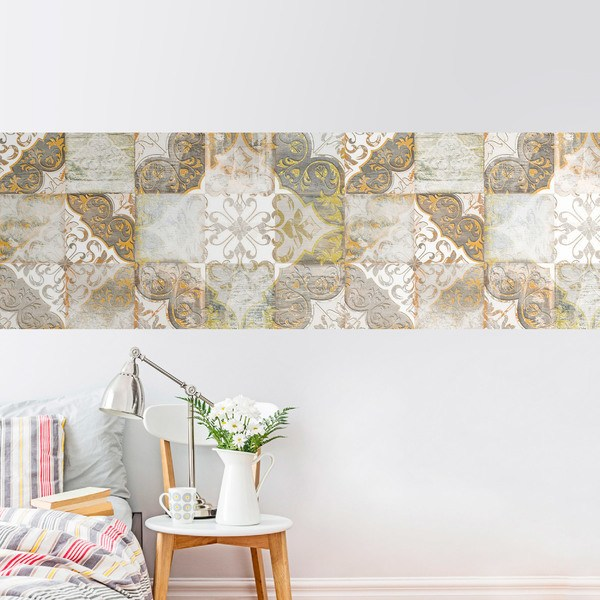 Wall Stickers: Worn-out ornamental mosaic
