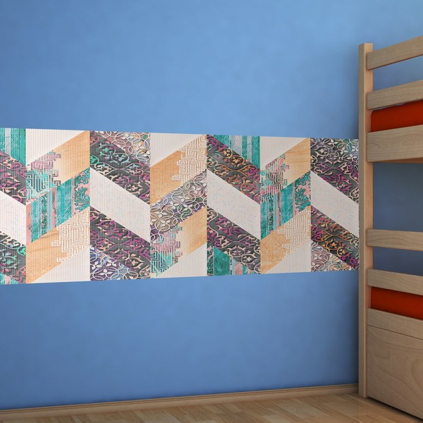 Wall Stickers: Multicoloured tapestry