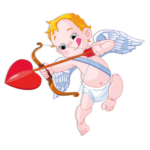 Stickers for Kids: Baby Cupid