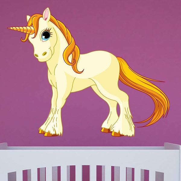 Wall Stickers: Yellow unicorn