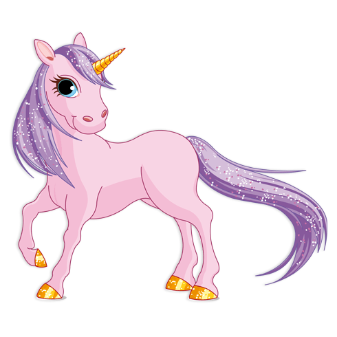 Stickers for Kids: Pink Pony Unicorn