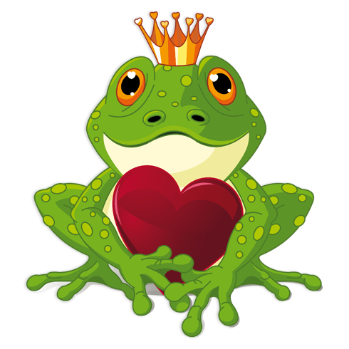 Stickers for Kids: Frog prince