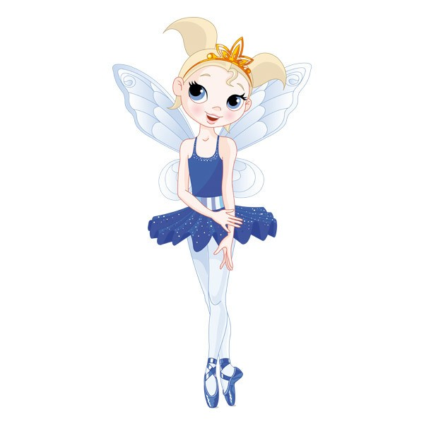Stickers for Kids: Fairy Ballerina Blue