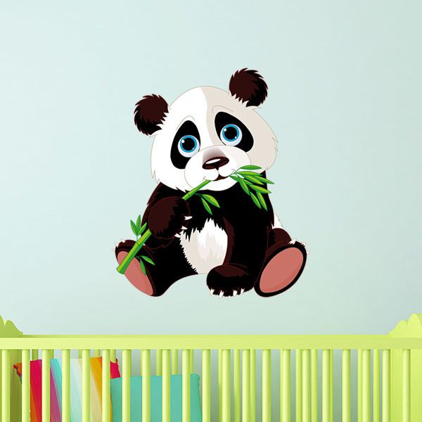 Stickers for Kids: Puppy panda bear