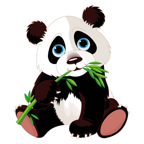 Stickers for Kids: Panda Bear Cub