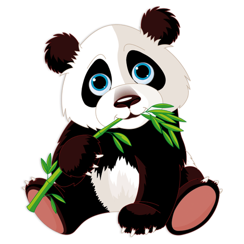 Stickers for Kids: Panda Bear Cub