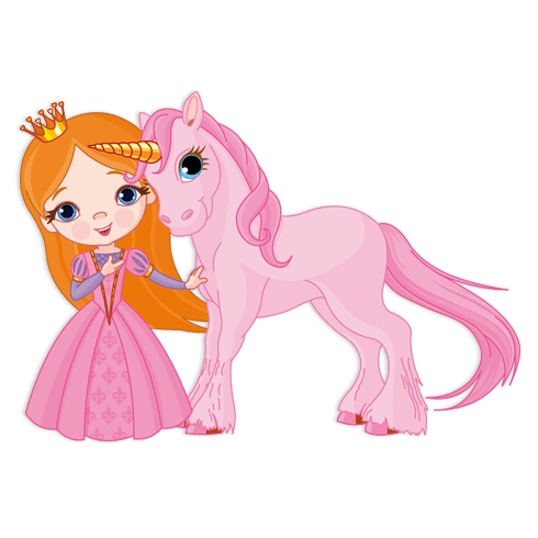 Stickers for Kids: Fairy and Unicorn
