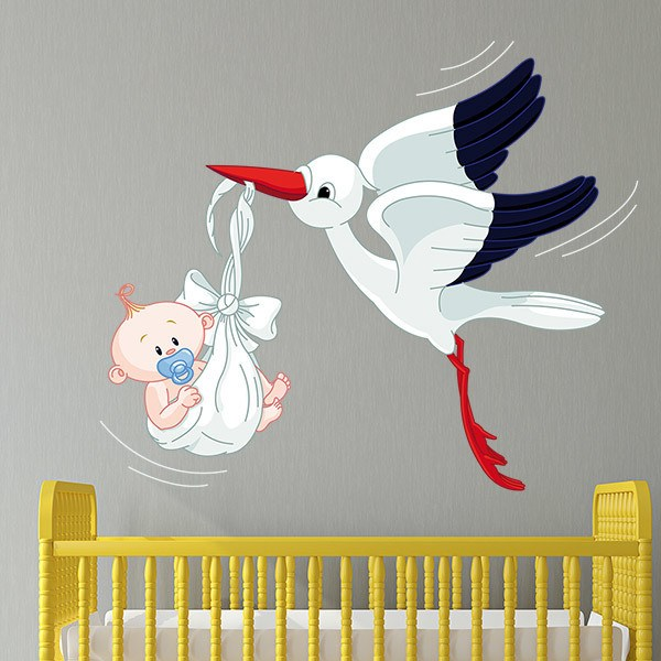 Stickers for Kids: Stork and Baby