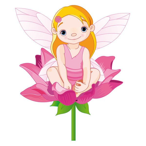 Stickers for Kids: Little Fairy on a flower