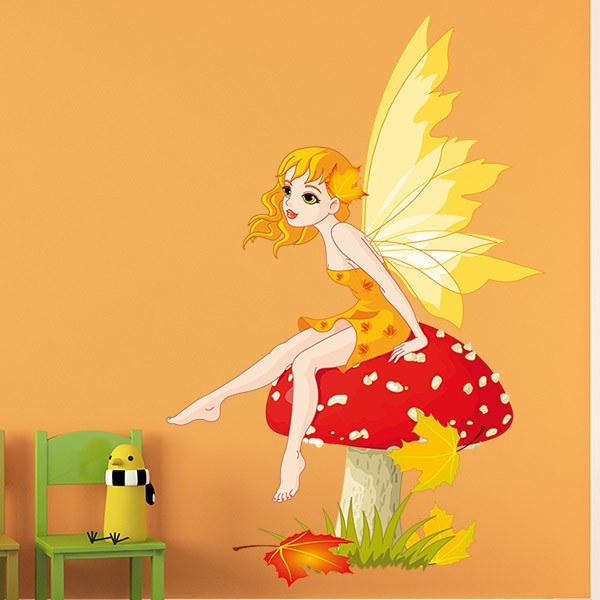 Stickers for Kids: Fairy Sitting on Mushroom