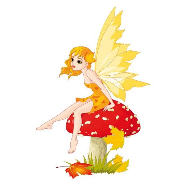 Картинка для детей осень девушка на прозрачном фоне