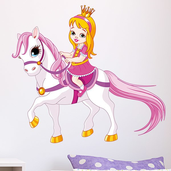 Stickers for Kids: Princess and Pony