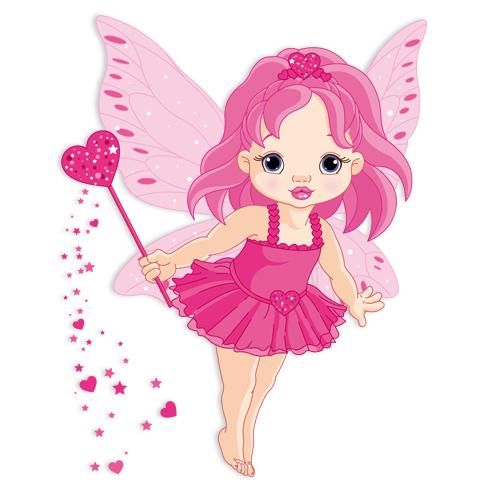 Stickers for Kids: Little butterfly fairy