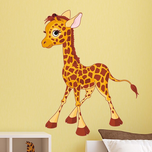 Stickers for Kids: Giraffe puppy 1