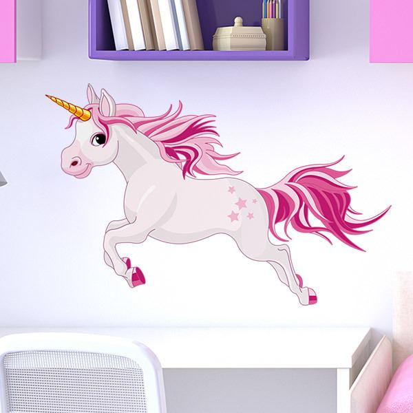 Wall Stickers: White starry unicorn