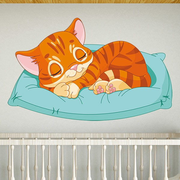 Stickers for Kids: Sleeping cat