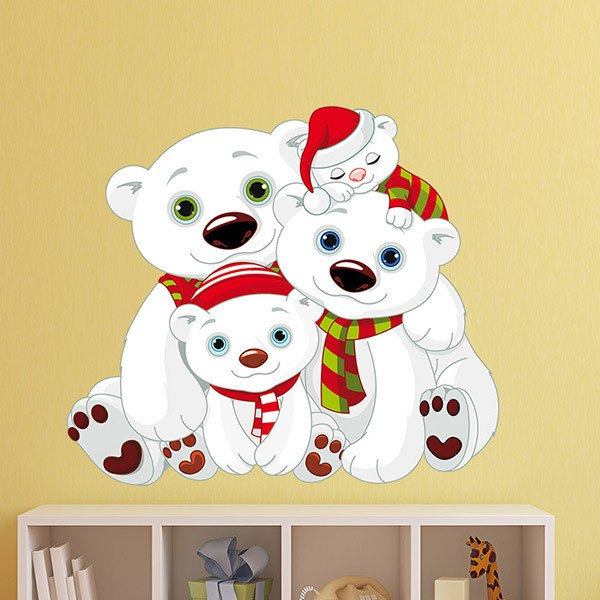 Stickers for Kids: Family of white bears