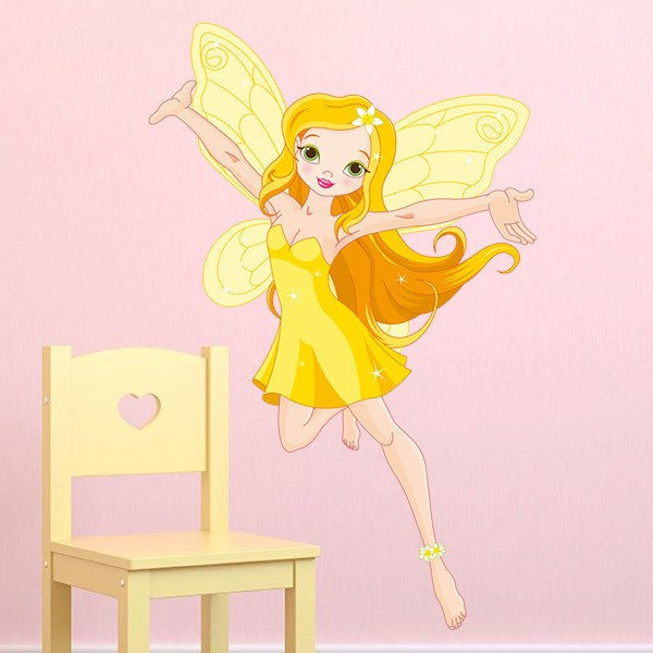 Stickers for Kids: Yellow fairy flying