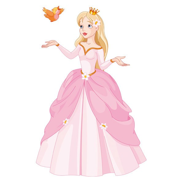 Stickers for Kids: Princess and little bird