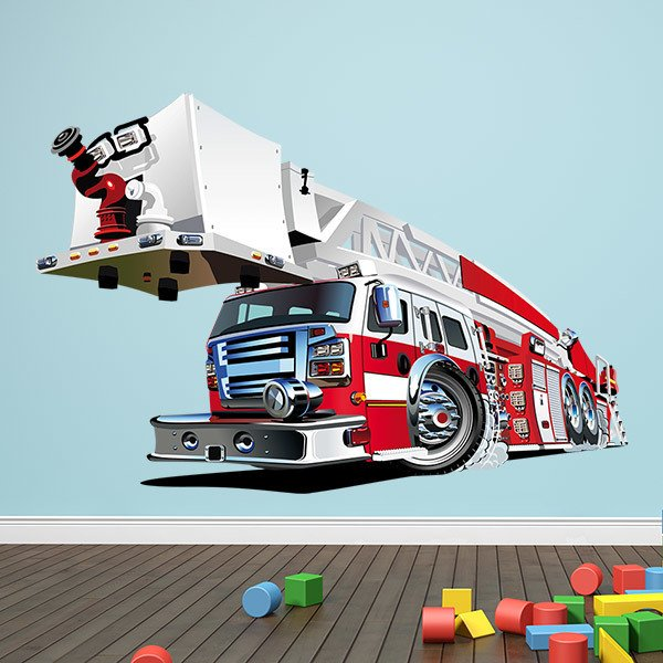Stickers for Kids: Fire truck crane