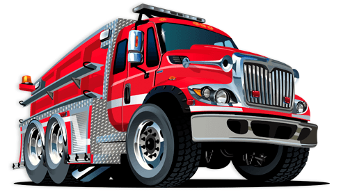 Stickers for Kids: Fire truck 2 0