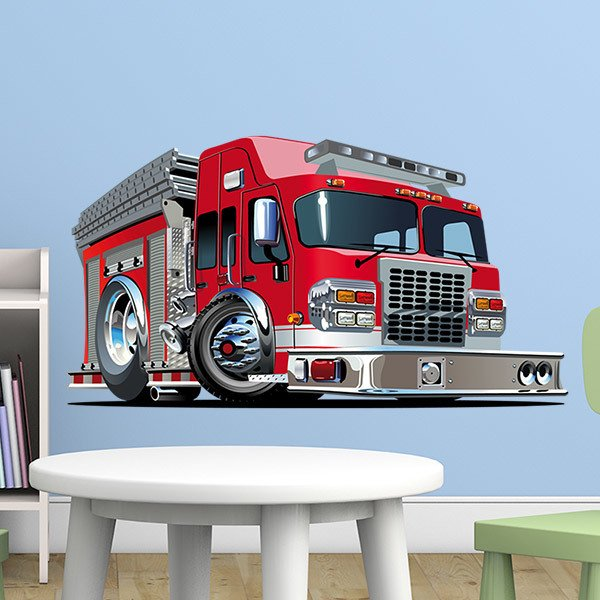 Stickers for Kids: Fire Truck Dispenser