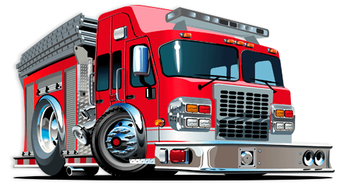Stickers for Kids: Fire truck 3