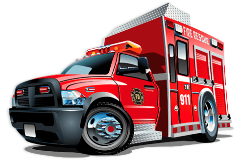 Stickers for Kids: Fire rescue truck