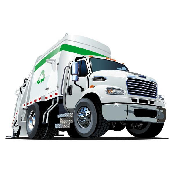 Stickers for Kids: Waste recycling truck