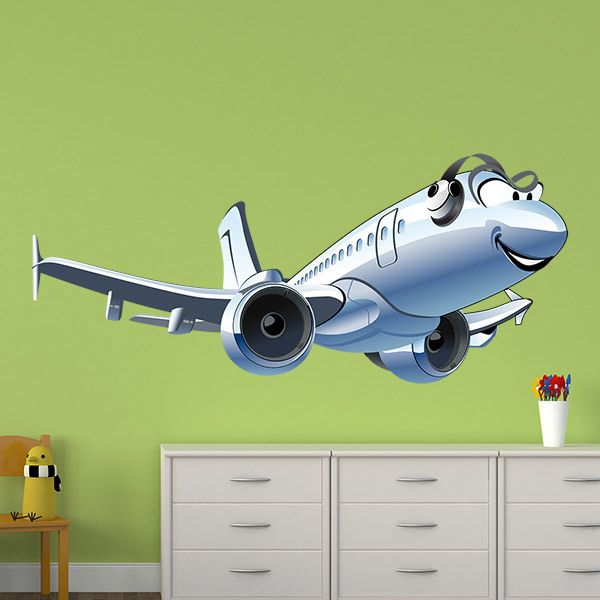 Stickers for Kids: First class airplane