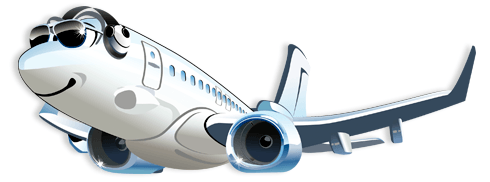 Stickers for Kids: Commercial plane 2 0