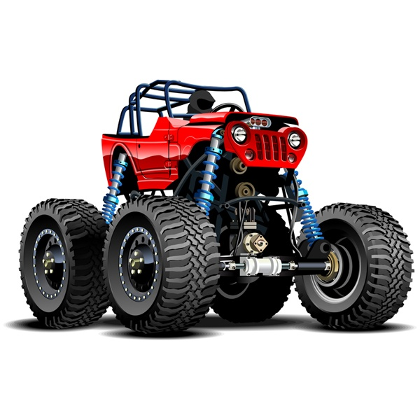 Stickers for Kids: Monster Truck 17
