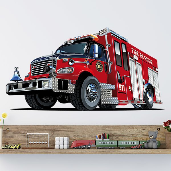 Stickers for Kids: Fire Rescue Fire Truck