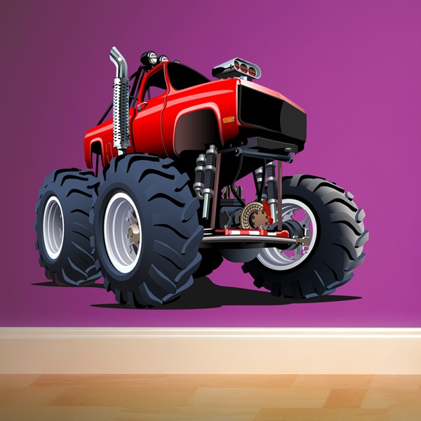 Stickers for Kids: Monster Truck Red