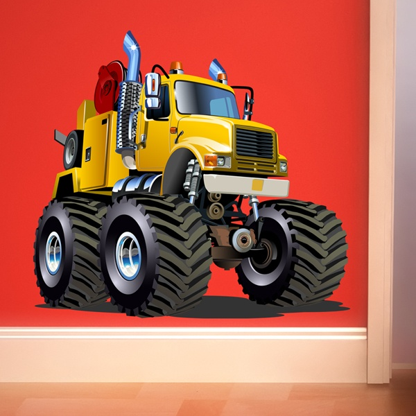 Stickers for Kids: Monster Truck Crane