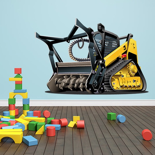 Stickers for Kids: Heavy machine roll
