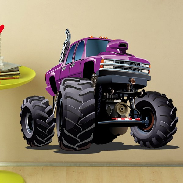 Stickers for Kids: Monster Truck Violet
