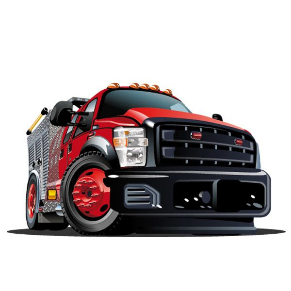 Stickers for Kids: Red truck