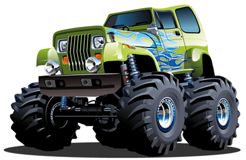 Stickers for Kids: Monster Truck 6 0